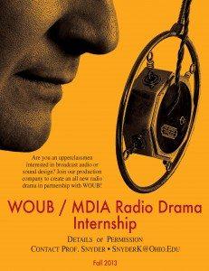 WOUB Radio Drama Poster Fall 2013
